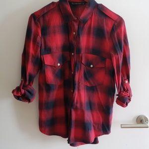 Zara flannel plaid shirt